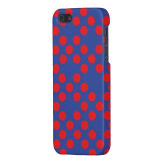 lunares rojos y azules iPhone 5 carcasa