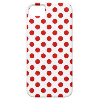Lunares rojos y blancos funda para iPhone SE/5/5s