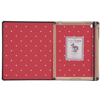 Lunares rojos y blancos iPad carcasas