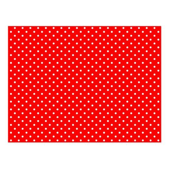 Lunares rojos y blancos minúsculos postal
