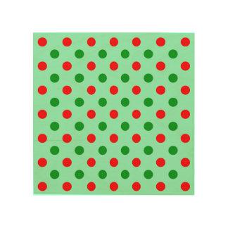 Lunares rojos y verdes cuadros de madera