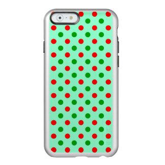 Lunares rojos y verdes funda para iPhone 6 plus incipio feather shine