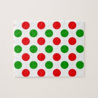 Lunares rojos y verdes rompecabezas