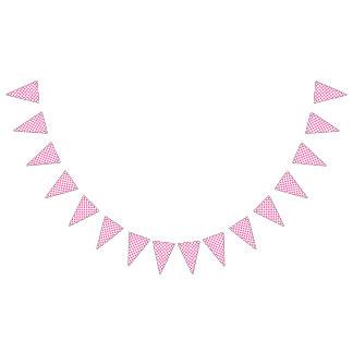 Lunares rosados banderines