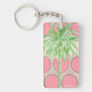 Lunares rosados bonitos del Llavero de la palmera