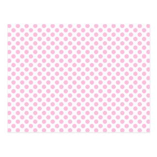Lunares rosados con el fondo adaptable postal