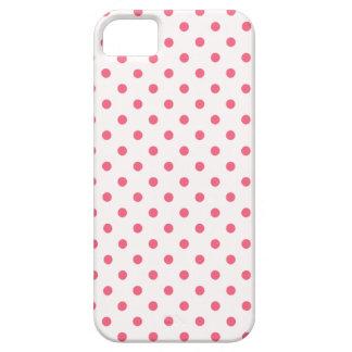 Lunares rosados del borde iPhone 5 protector