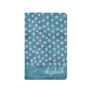 Lunares sucios de la acuarela - azul y rosa cuadernos grapados