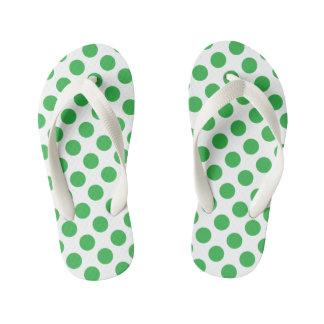 Lunares verdes chanclas para niños