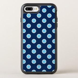 Lunares vibrantes del azul de cielo en la marina funda OtterBox symmetry para iPhone 8 plus/7 plus
