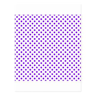 Lunares - violeta en blanco postal