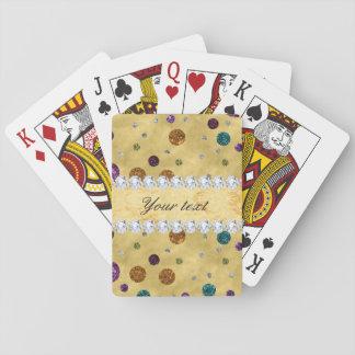 Lunares y diamantes del brillo baraja de cartas