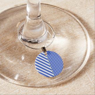 Lunares y rayas del azul real por ShirleyTaylor Identificador De Copa