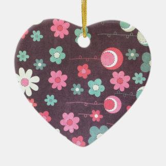 Lunas de la flor ornamento para arbol de navidad