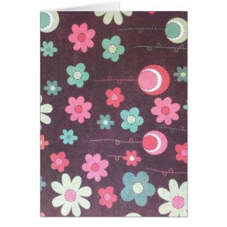 Lunas de la flor tarjeta