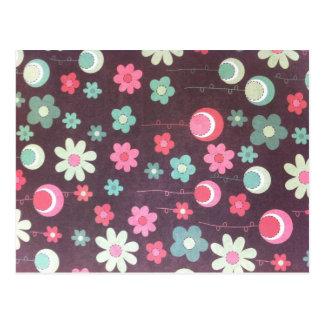 Lunas de la flor tarjeta postal