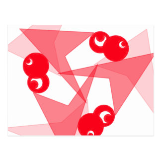 Lunas rojas gráficas postal