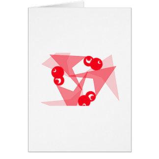 Lunas rojas gráficas tarjeta