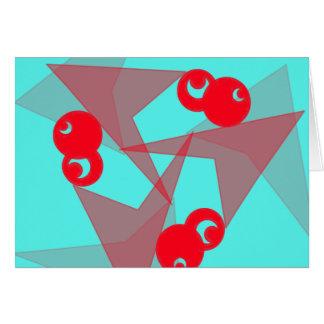 Lunas rojas gráficas tarjeta de felicitación