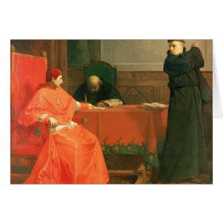 Luther delante de Cajetan cardinal Tarjetas
