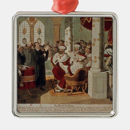 Luther en la dieta de gusanos ornamentos de reyes magos