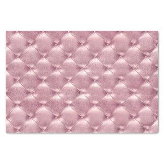 Lux de cuero copetudo metálico en colores pastel papel de seda