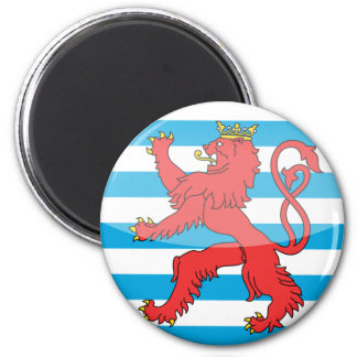 Luxemburgo Imán Redondo 5 Cm