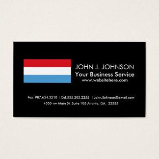 Luxemburgo señala por medio de una bandera tarjeta de negocios