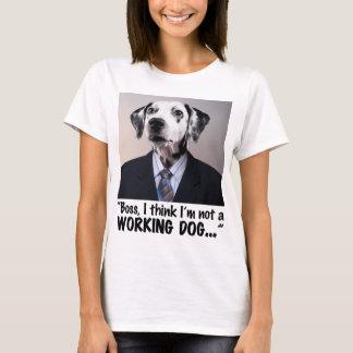 luz 2 del perro de trabajo camiseta