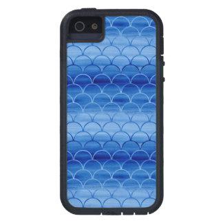 Luz a las escalas azul marino de la acuarela funda para iPhone SE/5/5s