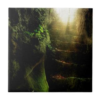 Luz abstracta de las escaleras del gato de la fant azulejo cuadrado pequeño