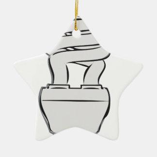 Luz ahorro de energía adorno de cerámica