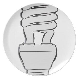 Luz ahorro de energía plato
