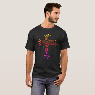 Luz cristiana de la camiseta de Cristo