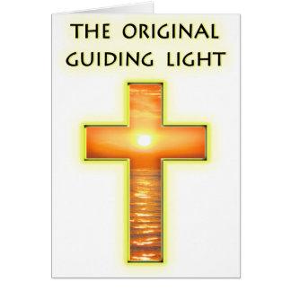 Luz de guía original tarjeta de felicitación