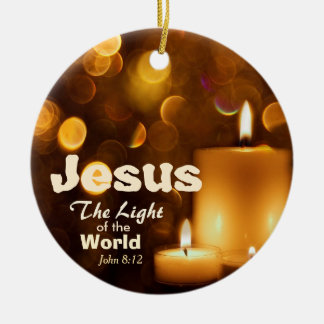 Luz de Jesús del ornamento del verso de la biblia