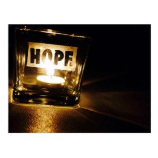 Luz de la esperanza postal