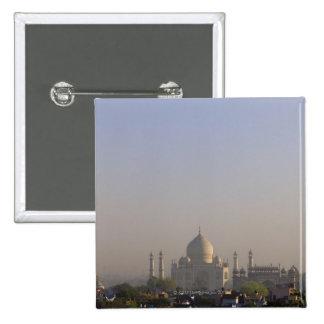Luz de la madrugada en la bóveda del Taj Mahal Chapa Cuadrada