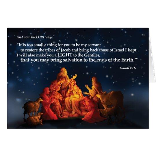 Luz de la tarjeta de Navidad del mundo