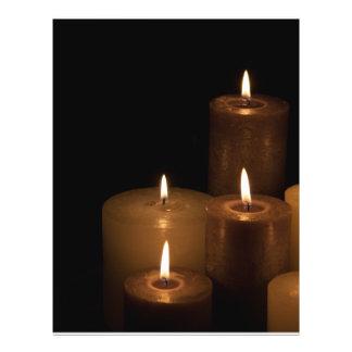 Luz de la vela folleto 21,6 x 28 cm