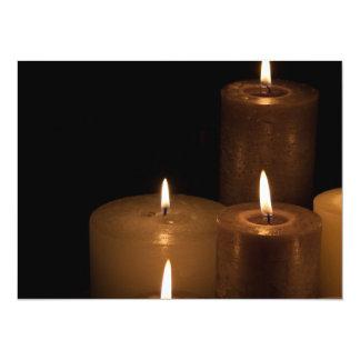 Luz de la vela invitación 13,9 x 19,0 cm