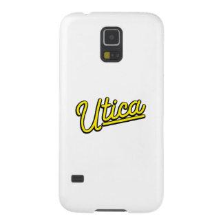 Luz de neón de Utica en amarillo Funda Galaxy S5