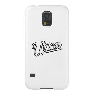 Luz de neón de Utica en blanco Funda Para Galaxy S5