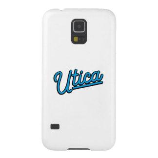 Luz de neón de Utica en ciánico Carcasa Galaxy S5