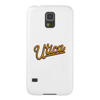 Luz de neón de Utica en naranja Funda Para Galaxy S5