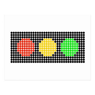 Luz de parada horizontal del punto postal