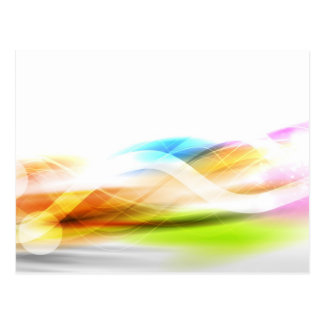 Luz del arco iris postal