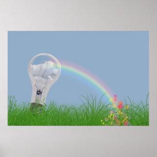Luz del arco iris póster