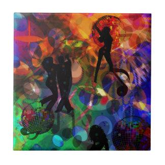 Luz del baile, fiesta de la celebración azulejo cuadrado pequeño