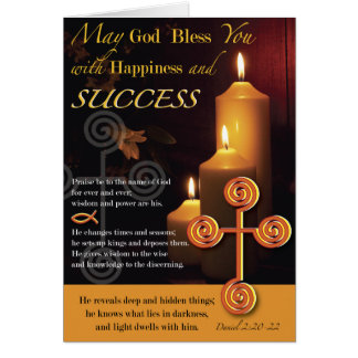 Luz del señor Success Tarjeta De Felicitación